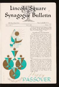 Lincoln Square Synagogue Bulletin Vol. 1 No. 5