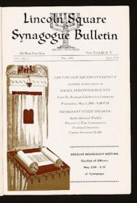 Lincoln Square Synagogue Bulletin Vol. 1 No. 6