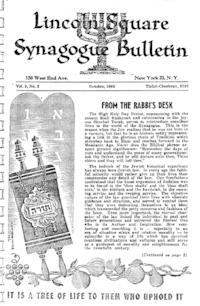 Lincoln Square Synagogue Bulletin Vol. 3 No. 2
