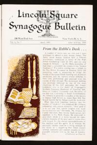 Lincoln Square Synagogue Bulletin Vol. 3 No. 7