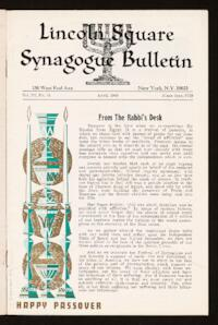 Lincoln Square Synagogue Bulletin Vol. III No. 15