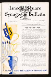 Lincoln Square Synagogue Bulletin Vol. IV No. 3