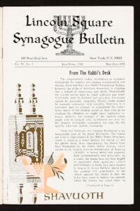 Lincoln Square Synagogue Bulletin Vol. IV No. 7