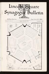 Lincoln Square Synagogue Bulletin Vol. V No. 3
