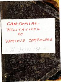 Cantorial Recitatives by various composers, manuscript 119