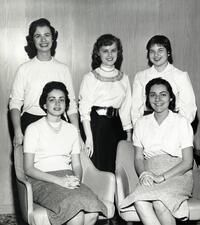 Five students posing