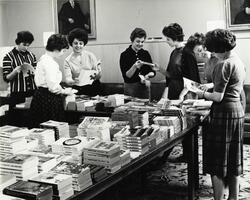 Students at Junior class book sale