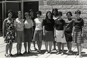 Students from SCW in Hebrew University's American Students Program, 1966-1967