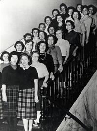 Class of 1959 on stairs