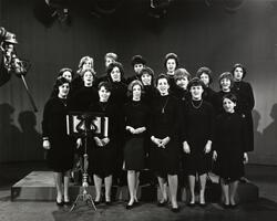 SCW choir performing on Jewish Heritage television show