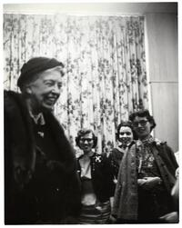 "Eleanor Roosevelt's ""fireside chat"" with students for Stern College month"