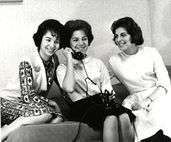 Students on telephone