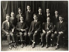 Students and faculty of first graduating class of the Talmudical Academy, 1919