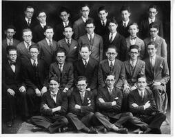 January 1928 graduates of the Talmudical Academy, with some faculty members