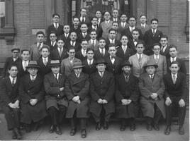 Students and faculty of the Talmudical Academy, circa 1920s