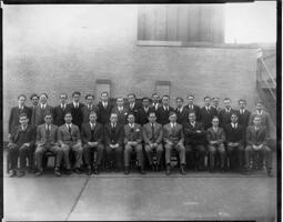 Faculty and students of the Talmudical Academy, circa 1920s