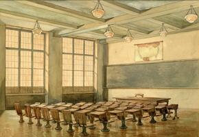 Rendering of future Talmudical Academy classroom