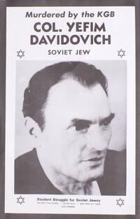 Murdered by the KGB - Col. Yefim Davidovich