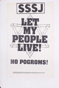 Let my people live! No pogroms!