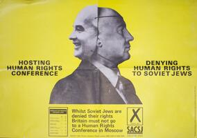 Hosting human rights conference - denying human rights to Soviet Jewry