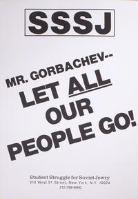 Mr. Gorbachev - let all our people go