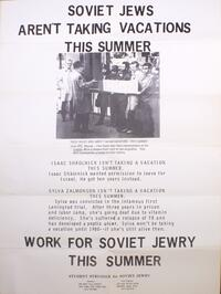 Soviet Jews aren't taking vacations this summer