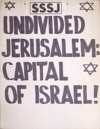Undivided Jerusalem: capital of Israel!