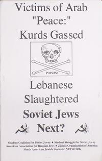 "Victims of Arab ""peace"": Kurds gassed, Lebanese slaughtered, Soviet Jews next?"
