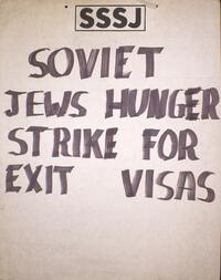 Soviet Jews hunger strike for exit visas