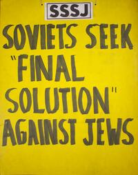 "Soviets seek ""Final Solution"" against Jews"